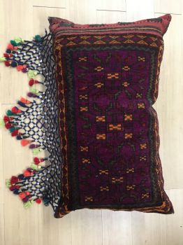 Handmade Afghan Saddlebag (Gypsy Pillow)